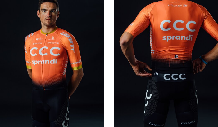 CCC TEAM rilascia il nuovo abbigliamento da ciclismo per il 2020